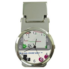 Game Boy White Money Clip Watches