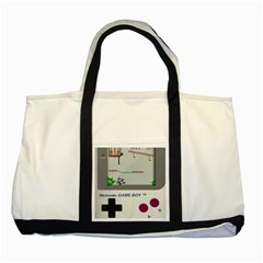 Game Boy White Two Tone Tote Bag