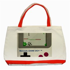 Game Boy White Classic Tote Bag (red)