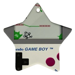 Game Boy White Star Ornament (two Sides) by Samandel