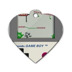 Game Boy White Dog Tag Heart (one Side)