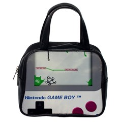 Game Boy White Classic Handbags (one Side)