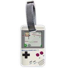Game Boy White Luggage Tags (two Sides)