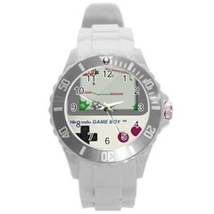 Game Boy White Round Plastic Sport Watch (l)