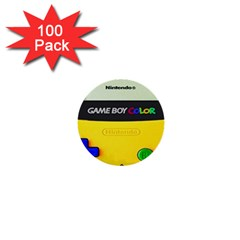Game Boy Yellow 1  Mini Buttons (100 Pack)