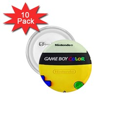 Game Boy Yellow 1 75  Buttons (10 Pack)