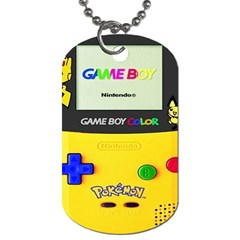 Game Boy Yellow Dog Tag (two Sides)