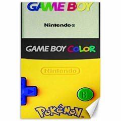 Game Boy Yellow Canvas 12  X 18