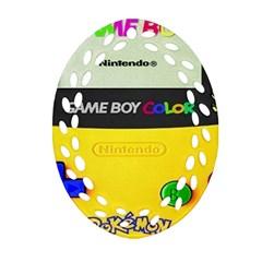 Game Boy Yellow Ornament (oval Filigree)