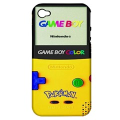Game Boy Yellow Apple Iphone 4/4s Hardshell Case (pc+silicone)