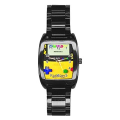 Game Boy Yellow Stainless Steel Barrel Watch
