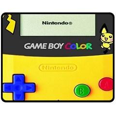 Game Boy Yellow Double Sided Fleece Blanket (medium)