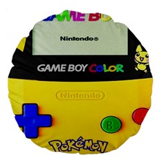 Game Boy Yellow Large 18  Premium Flano Round Cushions
