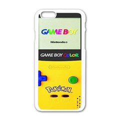 Game Boy Yellow Apple Iphone 6/6s White Enamel Case by Samandel