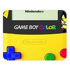 Game Boy Yellow Double Sided Flano Blanket (large)
