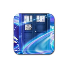 Tardis Space Rubber Square Coaster (4 Pack)