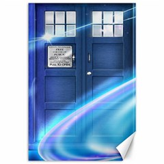 Tardis Space Canvas 12  X 18   by Samandel