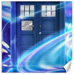 Tardis Space Canvas 16  X 16   by Samandel