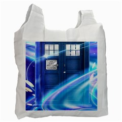 Tardis Space Recycle Bag (one Side)