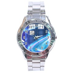 Tardis Space Stainless Steel Analogue Watch