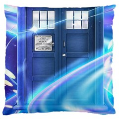 Tardis Space Large Flano Cushion Case (two Sides) by Samandel