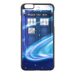 Tardis Space Apple Iphone 6 Plus/6s Plus Black Enamel Case