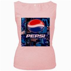 Pepsi Cans Women s Pink Tank Top