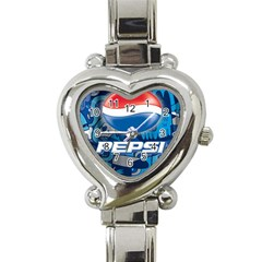 Pepsi Cans Heart Italian Charm Watch
