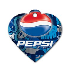 Pepsi Cans Dog Tag Heart (one Side)
