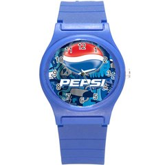 Pepsi Cans Round Plastic Sport Watch (s)