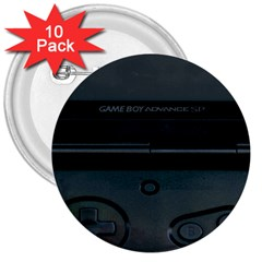 Game Boy Black 3  Buttons (10 Pack)