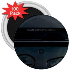 Game Boy Black 3  Magnets (100 Pack)