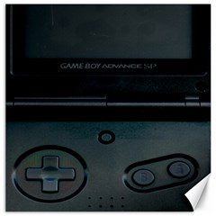Game Boy Black Canvas 12  X 12