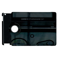 Game Boy Black Apple Ipad 3/4 Flip 360 Case