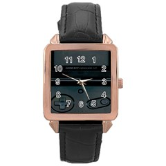 Game Boy Black Rose Gold Leather Watch