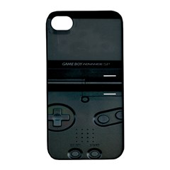 Game Boy Black Apple Iphone 4/4s Hardshell Case With Stand