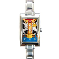 Woody Toy Story Rectangle Italian Charm Watch