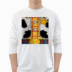 Woody Toy Story White Long Sleeve T Shirts