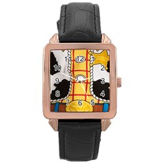 Woody Toy Story Rose Gold Leather Watch