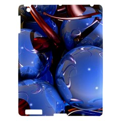 Spheres With Horns 3d Apple Ipad 3/4 Hardshell Case by Sapixe