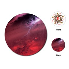 Storm Clouds And Rain Molten Iron May Be Common Occurrences Of Failed Stars Known As Brown Dwarfs Playing Cards (round)  by Sapixe