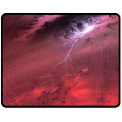 Storm Clouds And Rain Molten Iron May Be Common Occurrences Of Failed Stars Known As Brown Dwarfs Fleece Blanket (medium)  by Sapixe