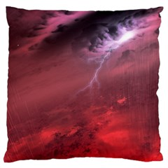 Storm Clouds And Rain Molten Iron May Be Common Occurrences Of Failed Stars Known As Brown Dwarfs Large Flano Cushion Case (two Sides) by Sapixe