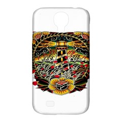 Tattoo Art Print Traditional Artwork Lighthouse Wave Samsung Galaxy S4 Classic Hardshell Case (pc+silicone) by Sapixe