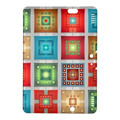 Tiles Pattern Background Colorful Kindle Fire Hdx 8 9  Hardshell Case by Sapixe