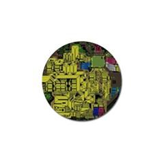 Technology Circuit Board Golf Ball Marker (4 Pack) by Sapixe
