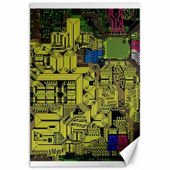 Technology Circuit Board Canvas 24  X 36  by Sapixe
