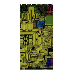 Technology Circuit Board Shower Curtain 36  X 72  (stall)  by Sapixe