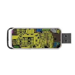 Technology Circuit Board Portable Usb Flash (one Side) by Sapixe