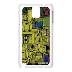 Technology Circuit Board Samsung Galaxy Note 3 N9005 Case (white) by Sapixe